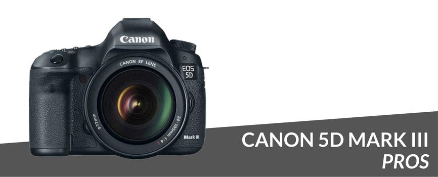 canon 5d mark iii pros