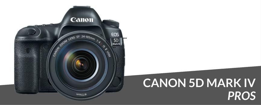canon 5d mark iv pros