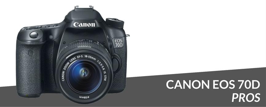 canon eos 70d pros