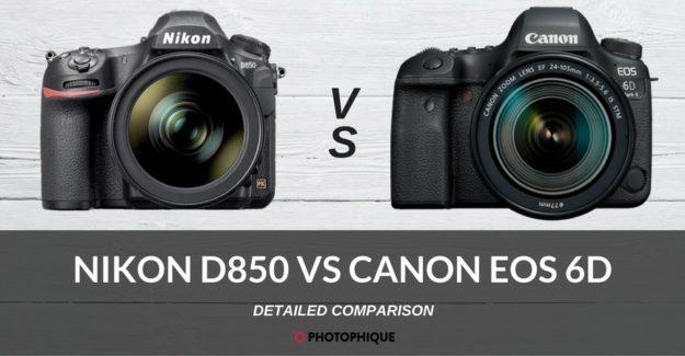 nikon d850 vs canon eos 6d