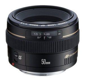 canon ef 50mm f/1.4 standard prime lens