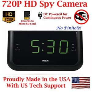 aes alarm clock radio spy camera