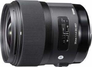 sigma 35mm f1.4 art dg hsm prime lens