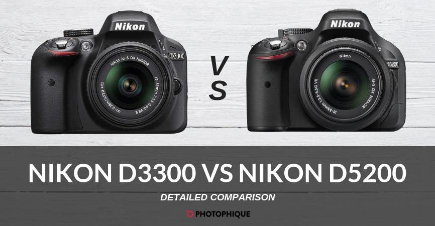 Nikon D3300 vs Nikon D5200