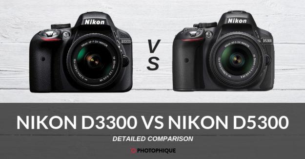 Nikon D3300 vs Nikon D5300