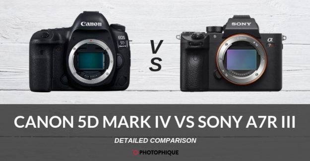 Canon 5D Mark IV vs Sony A7R III
