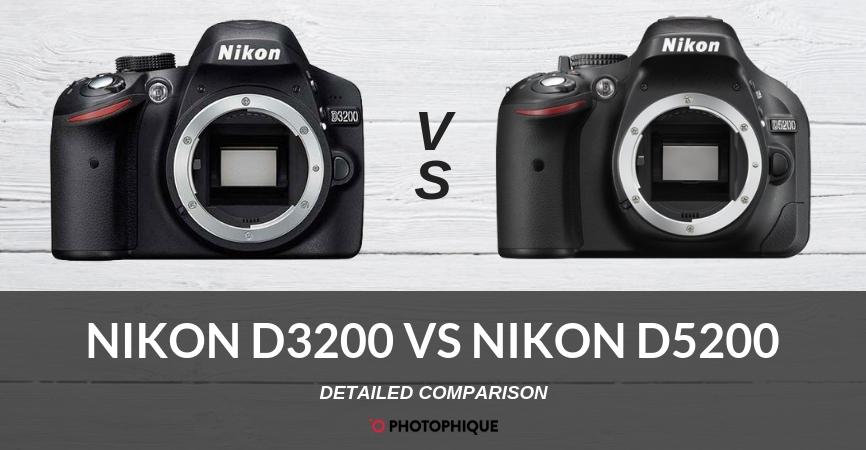 Nikon D3200 vs Nikon D5200