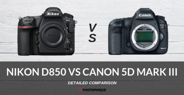 Nikon D850 vs Canon 5D Mark III