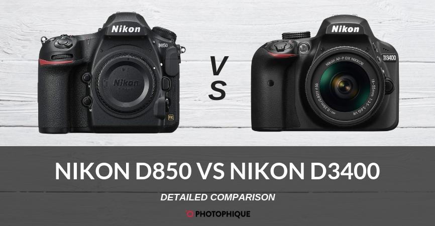 Nikon D850 vs Nikon D3400