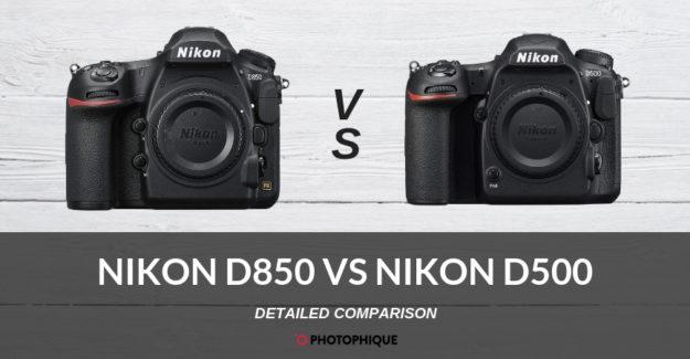 Nikon D850 vs Nikon D500