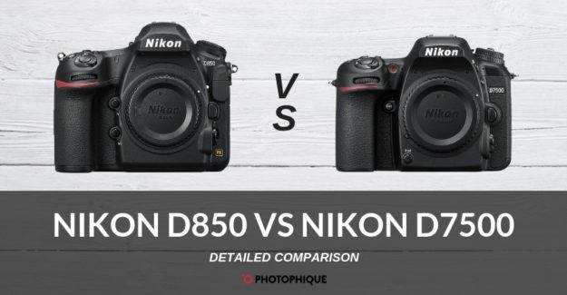 Nikon D850 vs Nikon D7500