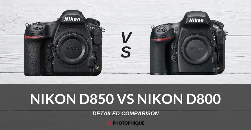 Nikon D850 vs Nikon D800