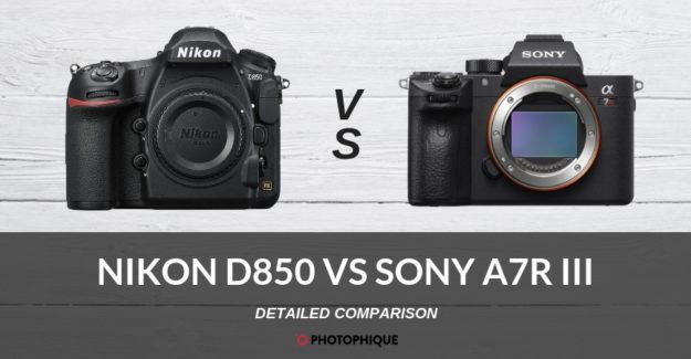 Nikon D850 vs Sony A7R III