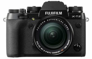 fuji x t2 with the 12-55 mm lens