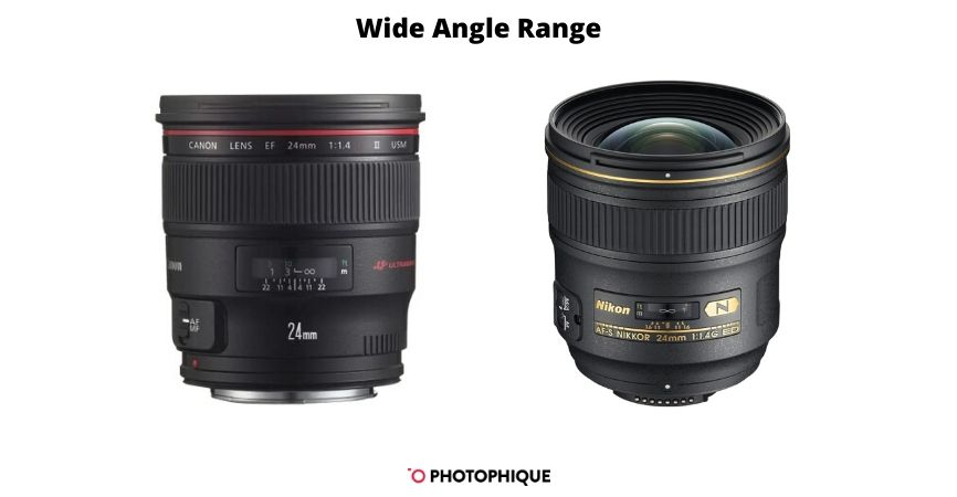 Wide Angle Range Lenses